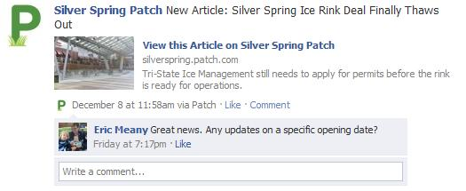 Facebook comment on Patch story