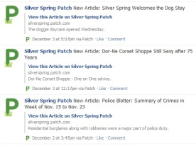Silver Spring Patch's Facebook feed